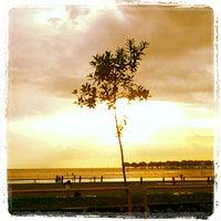 Photo taken at Bagan Lalang Beach by Farahin N. on 2/16/2013