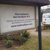Photo taken at Recreatiepark Het Hoefijzer by Terry J. on 4/10/2013