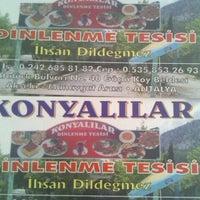 Photo taken at Konyalılar dinlenme tesisi ihsan usta by Shersheri R. on 7/26/2013
