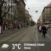 Photo taken at Štěpánská (tram) by Jan M. on 12/8/2015
