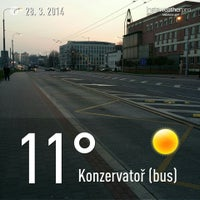 Photo taken at Konzervatoř (bus) by Jan M. on 3/28/2014