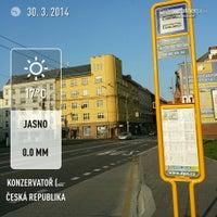 Photo taken at Konzervatoř (bus) by Jan M. on 3/30/2014