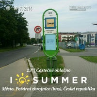 Photo taken at Město, Požární zbrojnice (bus) by Jan M. on 7/18/2014