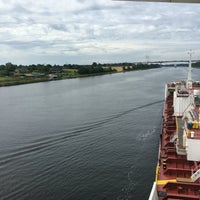 Photo taken at Kiel Canal by Hakan A. on 7/8/2016