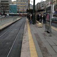 Photo taken at Sirkeci Tramvay Durağı by Onur A. on 2/28/2013