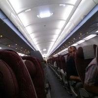 Photo taken at Qatar Airways QR 675 by Abdulla R. on 12/12/2013