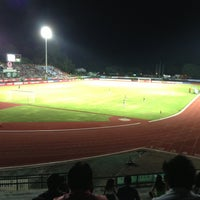 Photo taken at Surakul Sports Stadium by Phitchy C. on 5/4/2013