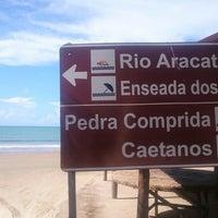 Photo taken at Praia dos Caetanos by Dafne C. on 3/28/2015