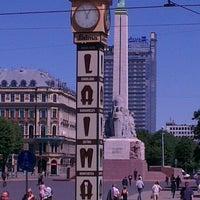 Photo taken at Laimas Pulkstenis   Laima clock by Karina P. on 6/12/2013