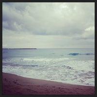 Photo taken at Rethymno Beach by Annie . on 1/28/2013
