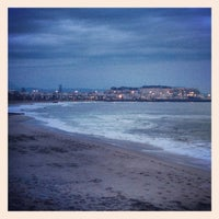 Photo taken at Rethymno Beach by Annie . on 1/27/2013