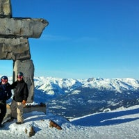Photo taken at Whistler Mtn. Peak by Joe V. on 1/21/2013