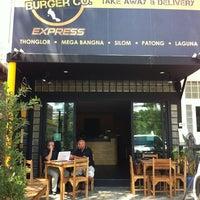 Photo taken at BAngkok Burger Company by Yupa L. on 3/23/2013