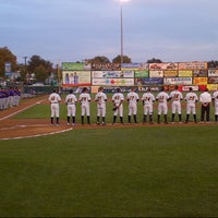 Photo taken at Arm & Hammer Park by Robyn S. on 9/14/2012