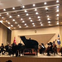 Photo taken at Mersin Üniversitesi Devlet Konservatuarı Konser Salonu by 🐾 SU .. on 3/19/2018