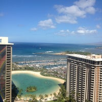 Photo taken at Hilton Hawaiian Village Waikiki Beach Resort by alexis t. on 5/26/2013