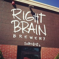 Photo taken at Right Brain Brewery by Timothy H. on 7/12/2013