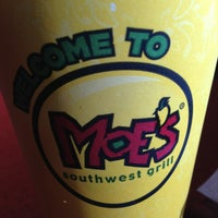 Photo taken at Moe's Southwest Grill by Rachael A. on 4/1/2013
