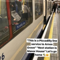 Photo taken at Manor House London Underground Station by Fatma Ş. on 7/14/2017