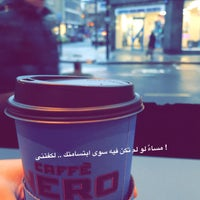 Photo taken at Caffè Nero by Abdulrahman on 1/22/2018