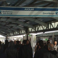 Photo taken at Avcılar Metrobüs Durağı by Hamza Ç. on 4/17/2013