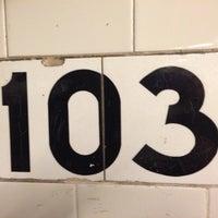Photo taken at MTA Subway - 103rd St (1) by Erika H. on 4/23/2013