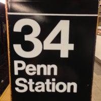Photo taken at MTA Subway - 34th St/Penn Station (1/2/3) by Erika H. on 4/30/2013