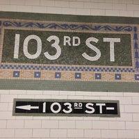 Photo taken at MTA Subway - 103rd St (1) by Erika H. on 4/30/2013