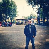 Photo taken at Plaza Hidalgo by Fernando M. on 7/18/2014