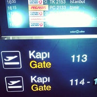 Photo taken at Gate 113 by Mehmet A. on 1/20/2013