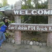 Photo Taken At Pta Beach Resort San Fabian By Oliv J On 3