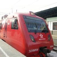 Photo taken at Aeroexpress Terminal at Belorusski Railway Station by Nataliya K. on 3/9/2013