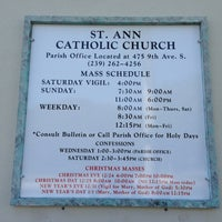 Photo taken at St. Ann Catholic Church by Gregory C. on 12/1/2012