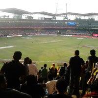 Photo taken at Jawaharlal Nehru Stadium by Shinoj V. on 2/9/2013