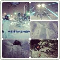 Photo taken at Перекресток Абулхаир Хана- Молдагуловой by Асель Ж. on 1/14/2014