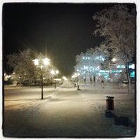 Photo taken at Перекресток Абулхаир Хана- Молдагуловой by Асель Ж. on 12/28/2013