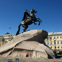 Photo taken at Bronze Horseman by Даша Ш. on 6/22/2013