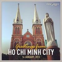 Photo taken at Saigon Notre-Dame Basilica by bonnie p. on 1/16/2013