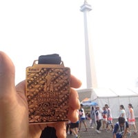 Photo taken at The Jakarta Marathon 2013 by Syaherman J. on 10/26/2013