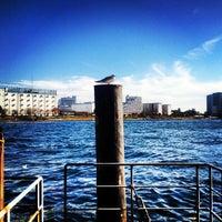 Photo taken at 隅田川テラス 新川ツインビル前 by Yoshiki I. on 2/2/2013