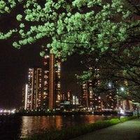 Photo taken at 隅田川テラス 新川ツインビル前 by Yoshiki I. on 3/26/2013