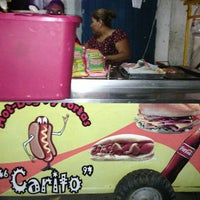 Photo taken at Hot Dog y Tortas Carito by Yuviny E. on 2/18/2013