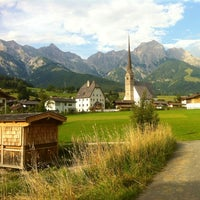 Photo taken at Maria Alm by Mahra A. on 8/18/2013