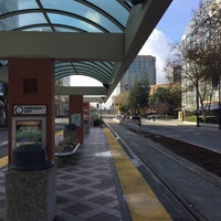 ... Photo Taken At VTA Convention Center Light Rail Station By Takeshi I.  On 12/ ...
