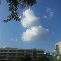 Photo taken at 언북중학교 운동장 by Changhwan K. on 9/13/2014