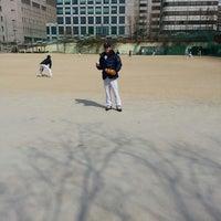 Photo taken at 언북중학교 운동장 by Changhwan K. on 3/8/2014