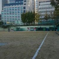 Photo taken at 언북중학교 운동장 by Changhwan K. on 10/30/2015