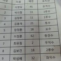 Photo taken at 언북중학교 운동장 by Changhwan K. on 8/9/2014