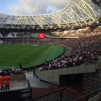 Photo taken at London Stadium by Ben R. on 11/13/2016