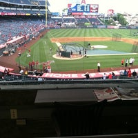 Photo taken at Angeles Stadium Legends Suite by Kayla on 5/17/2013